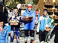 Andrea Squassino primo nella classifica del Grand Prix Italia nello Slalom di Gressoney